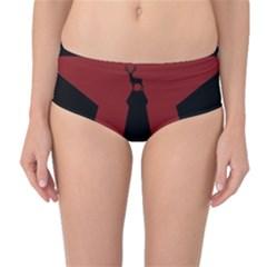 Buck Dear Animal Character Nature Mid Waist Bikini Bottoms