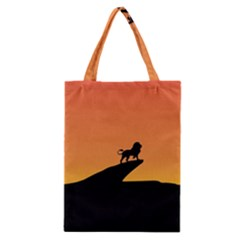 Lion Sunset Wildlife Animals King Classic Tote Bag by Nexatart