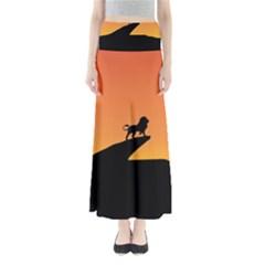 Lion Sunset Wildlife Animals King Maxi Skirts