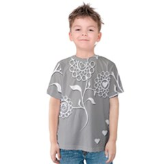 Flower Heart Plant Symbol Love Kids  Cotton Tee