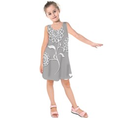 Flower Heart Plant Symbol Love Kids  Sleeveless Dress