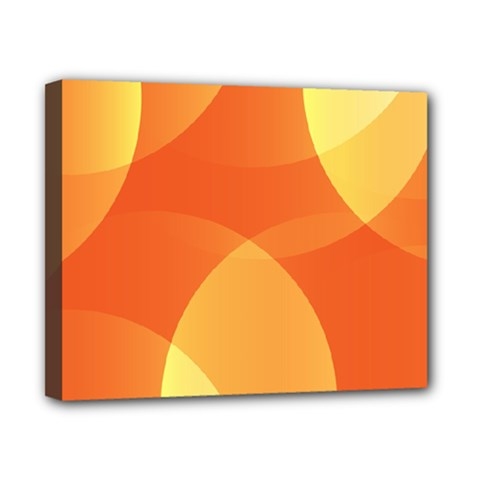 Abstract Orange Yellow Red Color Canvas 10  X 8  by Nexatart