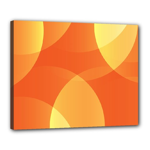 Abstract Orange Yellow Red Color Canvas 20  X 16