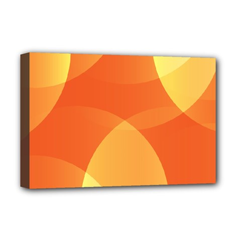 Abstract Orange Yellow Red Color Deluxe Canvas 18  X 12   by Nexatart