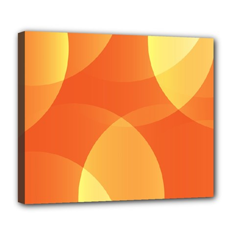 Abstract Orange Yellow Red Color Deluxe Canvas 24  X 20