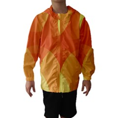 Abstract Orange Yellow Red Color Hooded Wind Breaker (kids)