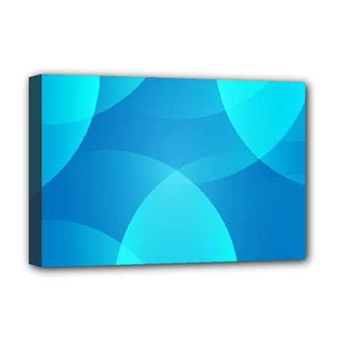 Abstract Blue Wallpaper Wave Deluxe Canvas 18  X 12