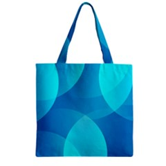 Abstract Blue Wallpaper Wave Zipper Grocery Tote Bag by Nexatart