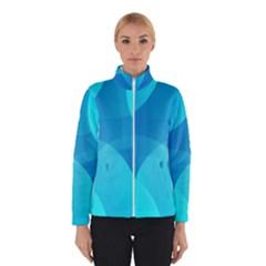 Abstract Blue Wallpaper Wave Winterwear by Nexatart