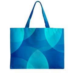 Abstract Blue Wallpaper Wave Medium Tote Bag by Nexatart