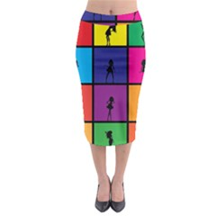 Girls Fashion Fashion Girl Young Midi Pencil Skirt by Nexatart