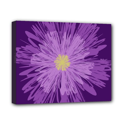 Purple Flower Floral Purple Flowers Canvas 10  X 8