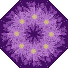 Purple Flower Floral Purple Flowers Straight Umbrellas by Nexatart