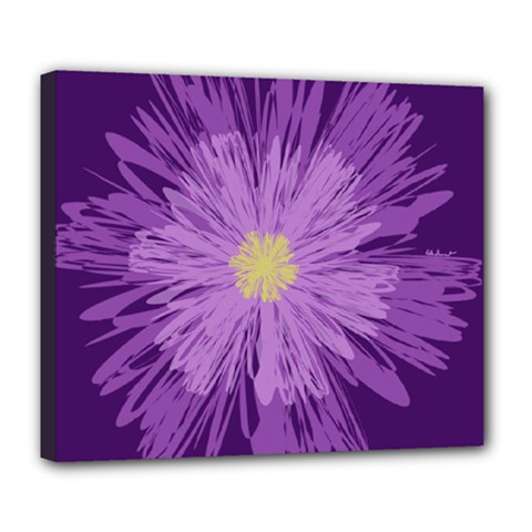 Purple Flower Floral Purple Flowers Deluxe Canvas 24  X 20