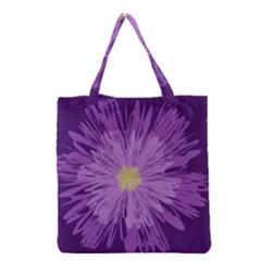 Purple Flower Floral Purple Flowers Grocery Tote Bag