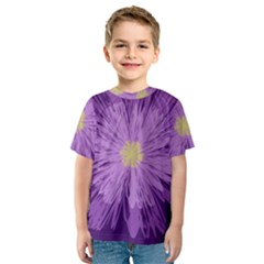 Purple Flower Floral Purple Flowers Kids  Sport Mesh Tee
