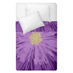 Purple Flower Floral Purple Flowers Duvet Cover Double Side (single Size)