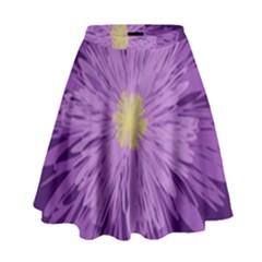 Purple Flower Floral Purple Flowers High Waist Skirt by Nexatart