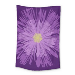 Purple Flower Floral Purple Flowers Small Tapestry by Nexatart