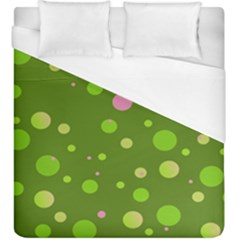 Decorative Dots Pattern Duvet Cover (king Size) by ValentinaDesign