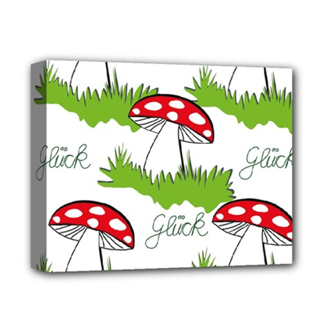 Mushroom Luck Fly Agaric Lucky Guy Deluxe Canvas 14  X 11  by Nexatart
