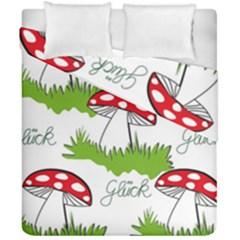 Mushroom Luck Fly Agaric Lucky Guy Duvet Cover Double Side (california King Size)