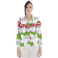 Mushroom Luck Fly Agaric Lucky Guy Wind Breaker (women)