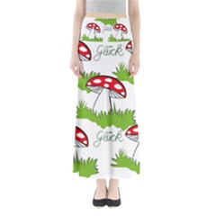 Mushroom Luck Fly Agaric Lucky Guy Maxi Skirts