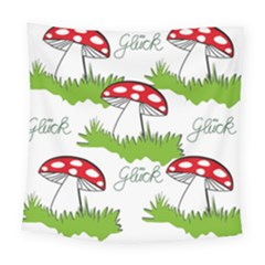 Mushroom Luck Fly Agaric Lucky Guy Square Tapestry (large) by Nexatart