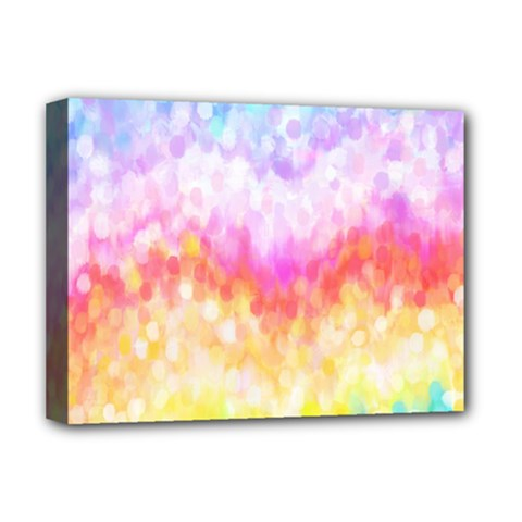 Rainbow Pontilism Background Deluxe Canvas 16  X 12
