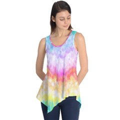 Rainbow Pontilism Background Sleeveless Tunic