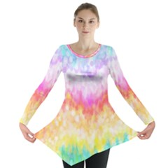 Rainbow Pontilism Background Long Sleeve Tunic
