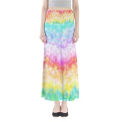 Rainbow Pontilism Background Maxi Skirts