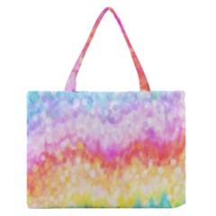 Rainbow Pontilism Background Medium Zipper Tote Bag by Nexatart