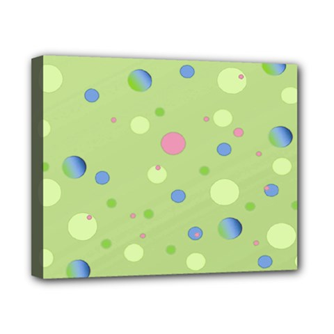 Decorative Dots Pattern Canvas 10  X 8  by ValentinaDesign