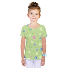 Decorative Dots Pattern Kids  One Piece Tee by ValentinaDesign