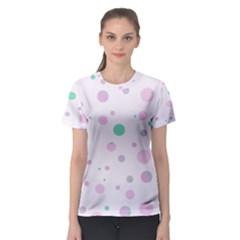 Decorative Dots Pattern Women s Sport Mesh Tee by ValentinaDesign