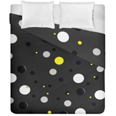 Decorative Dots Pattern Duvet Cover Double Side (california King Size) by ValentinaDesign