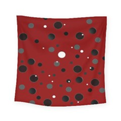 Decorative Dots Pattern Square Tapestry (small) by ValentinaDesign