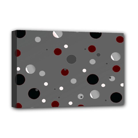 Decorative Dots Pattern Deluxe Canvas 18  X 12   by ValentinaDesign