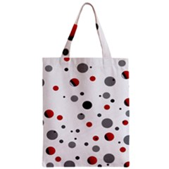 Decorative Dots Pattern Zipper Classic Tote Bag by ValentinaDesign