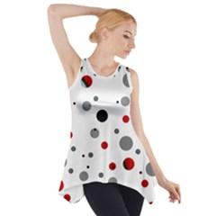 Decorative Dots Pattern Side Drop Tank Tunic by ValentinaDesign