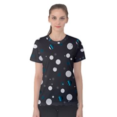 Decorative Dots Pattern Women s Cotton Tee by ValentinaDesign
