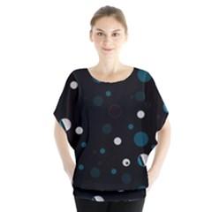 Decorative Dots Pattern Blouse by ValentinaDesign