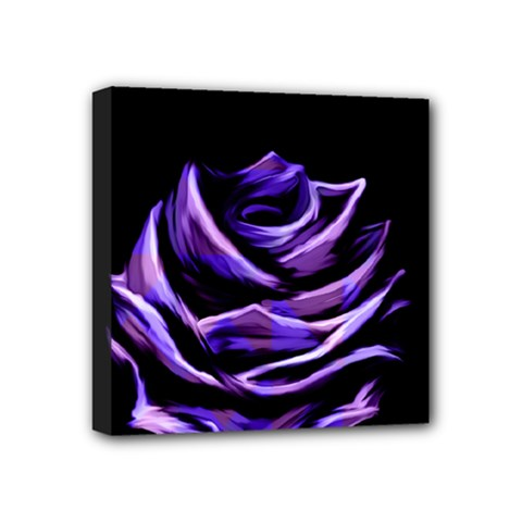 Rose Flower Design Nature Blossom Mini Canvas 4  X 4  by Nexatart