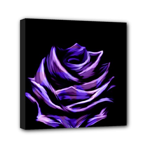 Rose Flower Design Nature Blossom Mini Canvas 6  X 6  by Nexatart