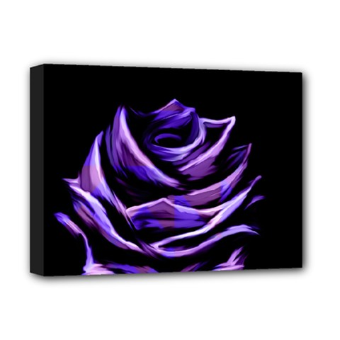 Rose Flower Design Nature Blossom Deluxe Canvas 16  X 12