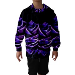 Rose Flower Design Nature Blossom Hooded Wind Breaker (kids)