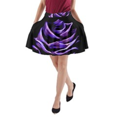 Rose Flower Design Nature Blossom A Line Pocket Skirt by Nexatart