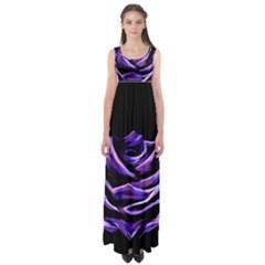 Rose Flower Design Nature Blossom Empire Waist Maxi Dress